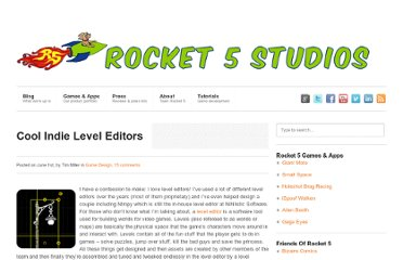 http://www.rocket5studios.com/game-design/cool-indie-level-editors/