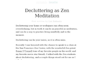 http://zenhabits.net/zen-clutter/#more-8040