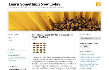 http://learnsomethingnewtoday.us/2008/10/18/47-things-i-wish-my-mom-taught-me-about-cooking/