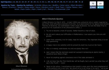 http://www.spiritquotes.com/quotes/albert-einstein-quotes.htm