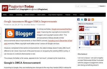 http://www.plagiarismtoday.com/2011/07/26/google-announces-blogger-dmca-improvements/