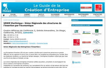 http://www.guidedelacreationdentreprise.com/ursie-martinique-union-regionale-des-structures-de-l-insertion-par-l-economique-2446.html