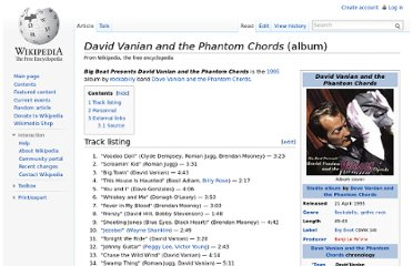 http://en.wikipedia.org/wiki/David_Vanian_and_the_Phantom_Chords_(album)#Track_listing
