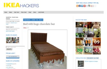 http://www.ikeahackers.net/2011/06/bed-with-huge-chocolate-bar.html