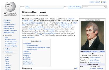 http://en.wikipedia.org/wiki/Meriwether_Lewis#Death