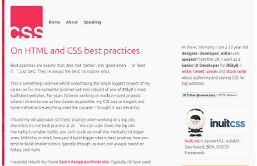 http://csswizardry.com/2011/12/on-html-and-css-best-practices/