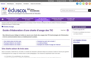 http://eduscol.education.fr/cid57095/guide-elaboration-des-chartes-usage.html