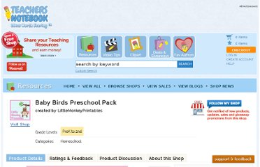 http://www.teachersnotebook.com/product/dschurma/baby-birds-preschool-pack