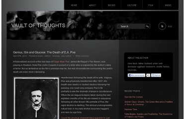 http://www.vaultofthoughts.com/2012/04/27/genius-gin-and-glucose-the-death-of-e-a-poe/