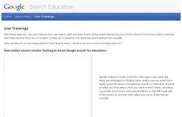 http://www.google.com/insidesearch/searcheducation/training.html#carousel