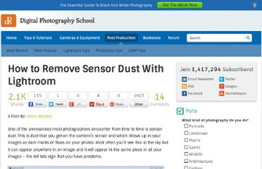 http://digital-photography-school.com/how-to-remove-sensor-dust-with-lightroom