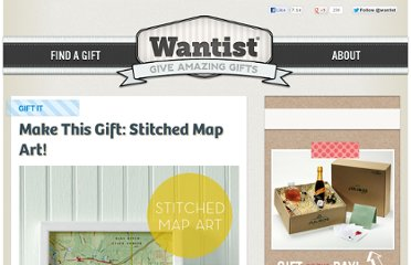 http://blog.wantist.com/2011/11/make-this-gift-stitched-map-art/