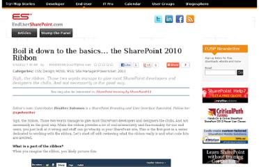 https://www.nothingbutsharepoint.com/sites/eusp/Pages/Boil-it-down-to-the-basics-the-SharePoint-2010-Ribbon.aspx