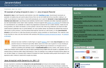 http://javarevisited.blogspot.com/2011/05/example-of-arraylist-in-java-tutorial.html