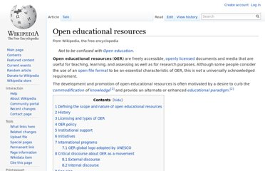 http://en.wikipedia.org/wiki/Open_educational_resources