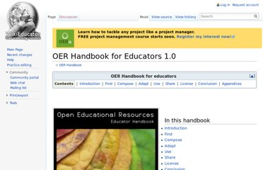 http://wikieducator.org/OER_Handbook/educator_version_one
