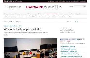http://news.harvard.edu/gazette/story/2011/12/when-to-help-a-patient-die/