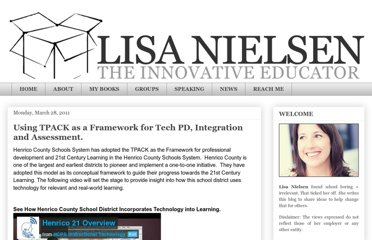 http://theinnovativeeducator.blogspot.com/2011/03/using-tpack-as-framework-for-tech-pd.html