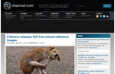 http://www.cgchannel.com/2012/04/cgarena-releases-300-free-animal-reference-images/