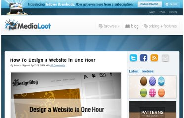 http://medialoot.com/blog/how-to-design-a-website-in-one-hour/