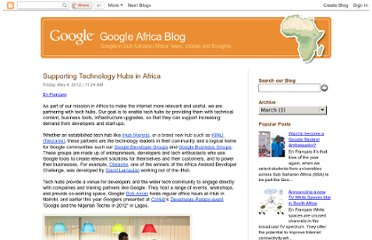 http://google-africa.blogspot.com/2012/05/supporting-technology-hubs-in-africa.html