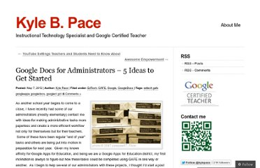 http://kylepace.wordpress.com/2012/05/07/google_docs_for_admins/