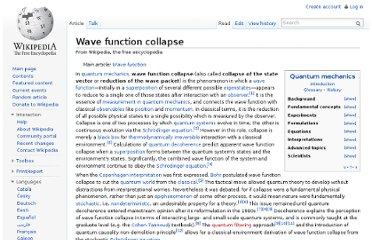 http://en.wikipedia.org/wiki/Wave_function_collapse