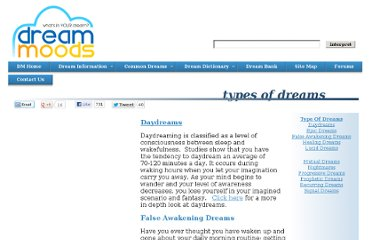 http://www.dreammoods.com/dreaminformation/dreamtypes/#top