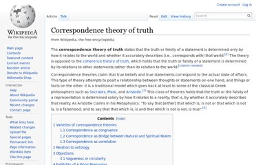 http://en.wikipedia.org/wiki/Correspondence_theory_of_truth