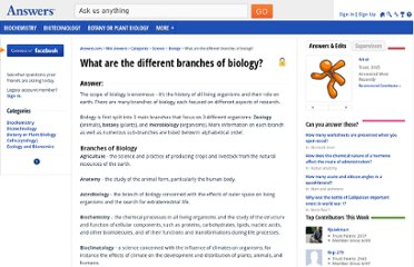 http://wiki.answers.com/Q/What_are_the_different_branches_of_biology