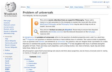 http://en.wikipedia.org/wiki/Problem_of_universals