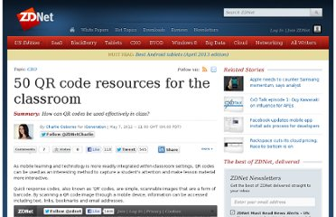 http://www.zdnet.com/blog/igeneration/50-qr-code-resources-for-the-classroom/16093