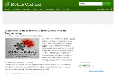http://mobileorchard.com/learn-how-to-make-iphone-ipad-games-with-no-programming/
