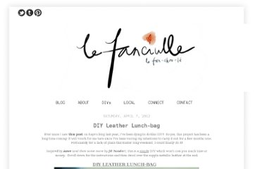 http://lefanciulle.blogspot.com/2012/04/diy-leather-lunch-bag.html