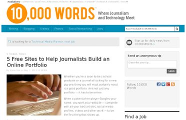 http://www.mediabistro.com/10000words/5-free-sites-to-help-journalists-build-an-online-portfolio_b12982