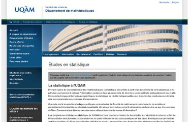 http://www.math.uqam.ca/statistique/index.php
