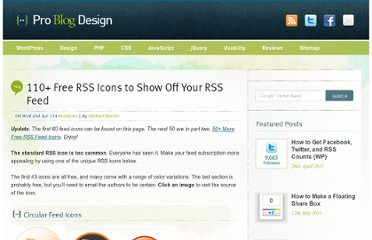 http://www.problogdesign.com/resources/60-great-rss-icons-for-your-blog/