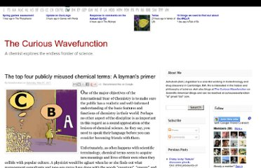 http://wavefunction.fieldofscience.com/2011/05/top-four-misused-chemical-terms-laymans.html
