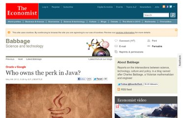 http://www.economist.com/blogs/babbage/2012/05/oracle-v-google