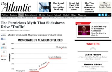 http://www.theatlantic.com/technology/archive/2012/05/the-pernicious-myth-that-slideshows-drive-traffic/256831/#.T6jJN5EcDHI.google_plusone_share