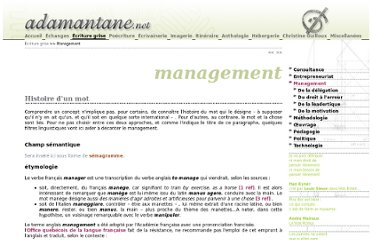 http://www.adamantane.net/ecriture_grise/management/index.html