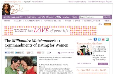 http://www.oprah.com/oprahshow/The-Millionaire-Matchmakers-Dating-Commandments