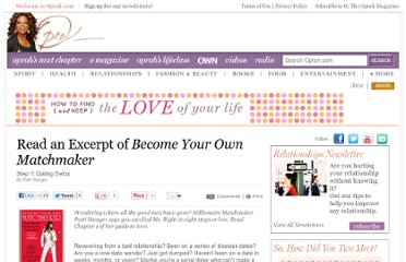 http://www.oprah.com/oprahshow/Excerpt-Become-Your-Own-Matchmaker-by-Patti-Stanger