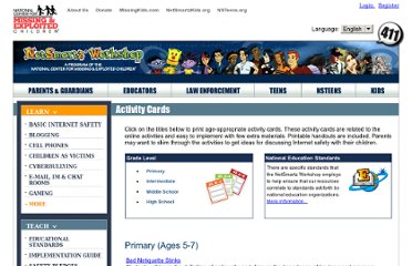 http://www.netsmartz.org/resources/activitycards#primary