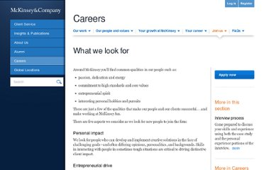 http://www.mckinsey.com/Careers/Apply/What_we_look_for