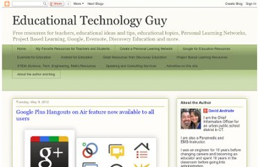 http://educationaltechnologyguy.blogspot.com/2012/05/google-plus-hangouts-on-air-feature-now.html