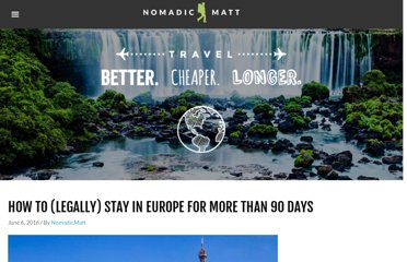 http://www.nomadicmatt.com/travel-blogs/how-to-legally-stay-in-europe-for-more-than-90-days/