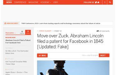 http://thenextweb.com/shareables/2012/05/08/move-over-zuck-abraham-lincoln-filed-a-patent-for-facebook-in-1845/