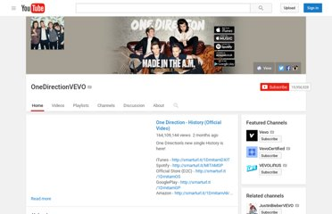 http://www.youtube.com/user/OneDirectionVEVO