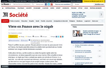 http://www.lemonde.fr/societe/article/2009/06/23/vivre-en-france-avec-le-niqab_1210261_3224.html